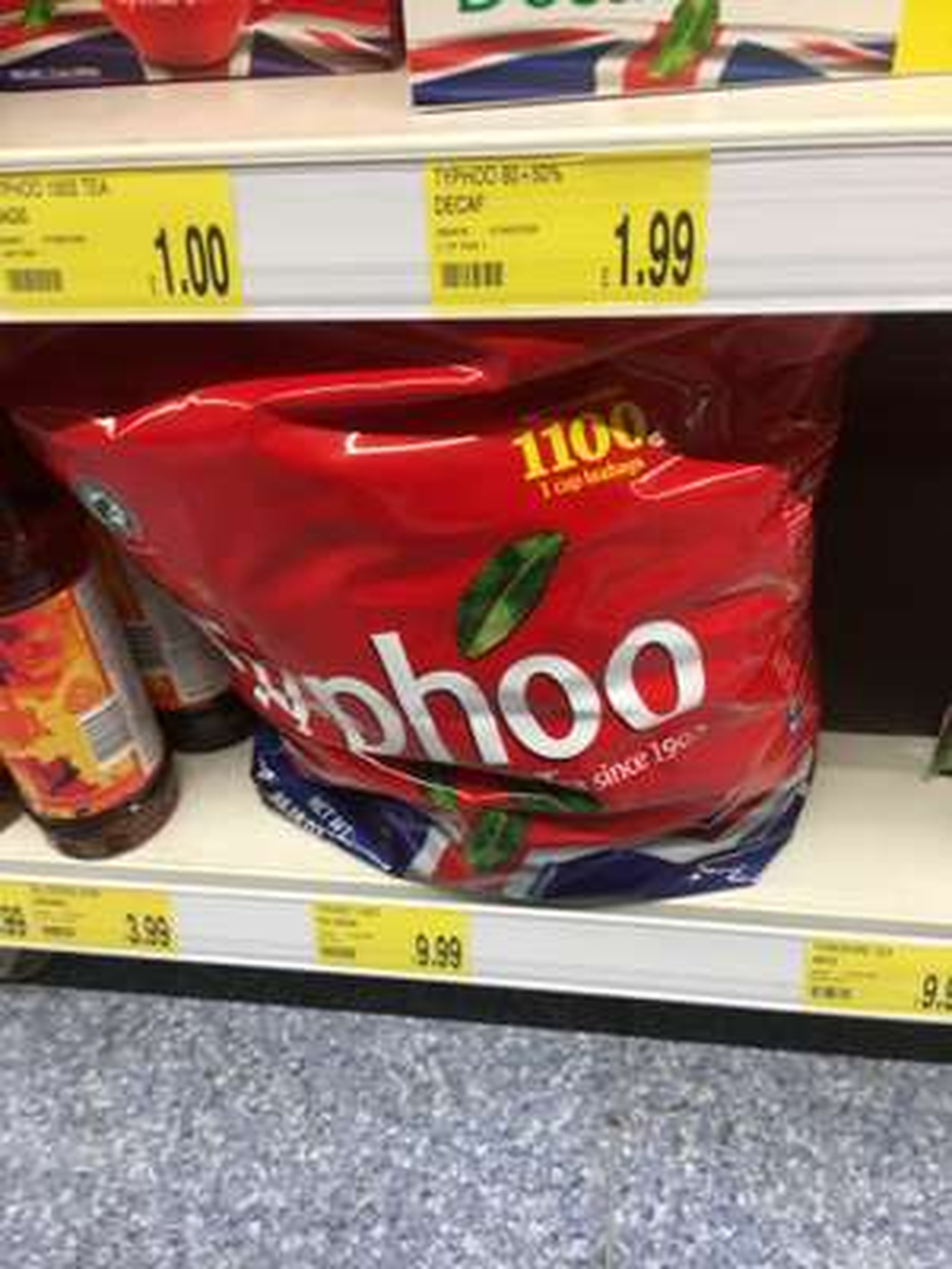 1100 typhoo  tea bags one cup £9.99 @ B&M