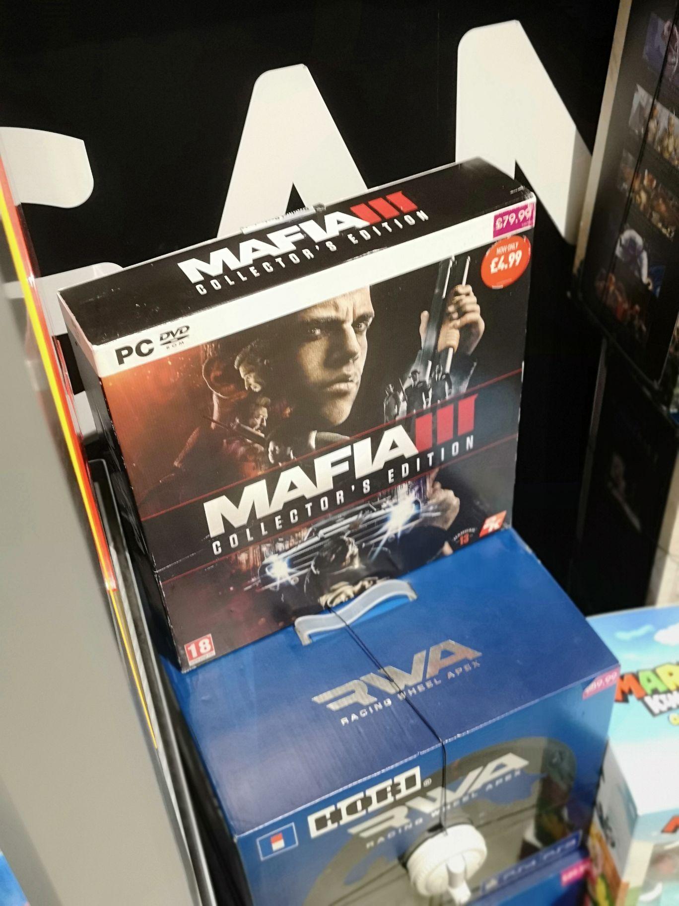 Mafia 3 Collectors Edition PC - £5 (includes Vinyls, Artwork Etc) found instore @ GAME (Trafford Centre, MCR)