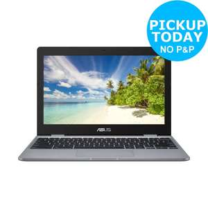 ASUS C223 11.6 Inch Celeron N3350 Dual Core 4GB 32GB Chromebook - £152.99 (with code) @ Currys eBay Store
