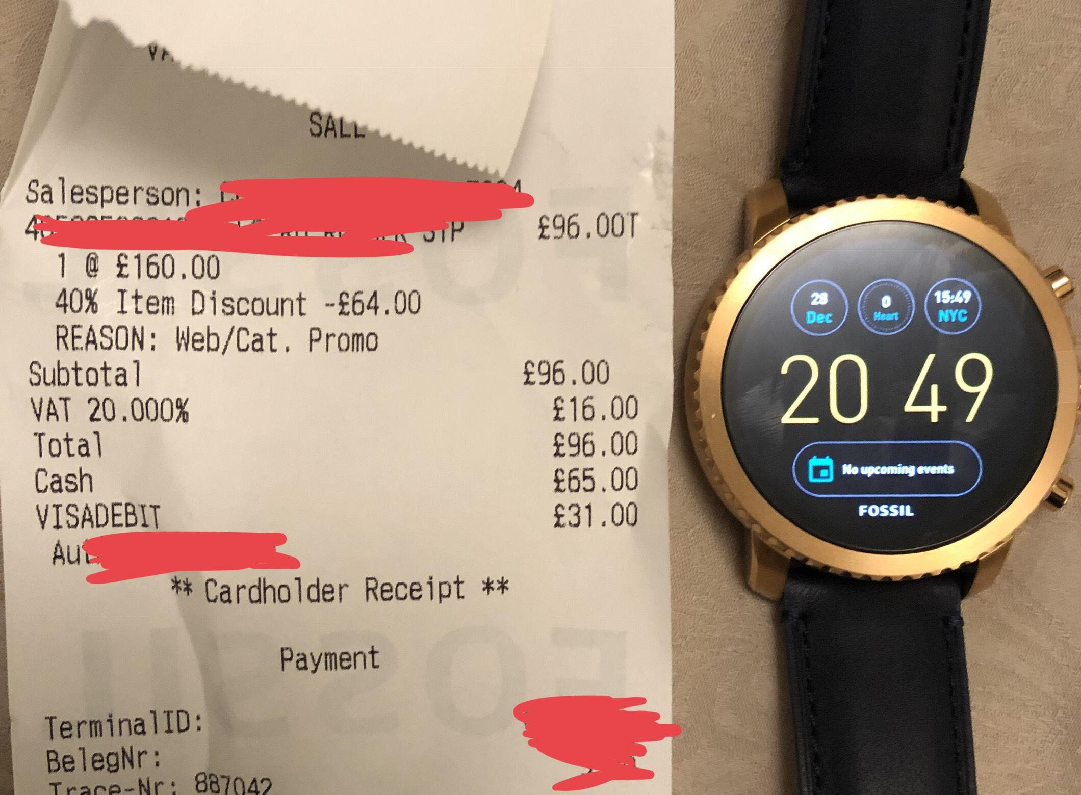 FOSSIL Q Explorist Smartwatch (Gen 3) Navy Leather - £96 instore @ McArthur Glen (Swindon)