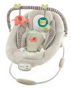 Ingenuity Cozy Kingdom baby bouncer with vibration and melodies - WAS £50, NOW £29.99 at George (Asda). FREE C&C