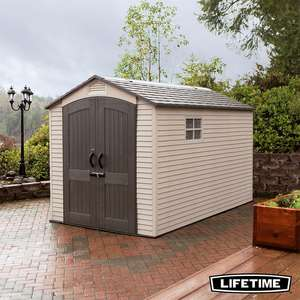 Lifetime 7ft x 12ft (2.1 x 3.6m) Outdoor Storage Shed with Windows @ costco
