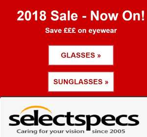 Frames (with Lens & Coating) from just £4 (£5.95 P&P Applies) @ selectspecs