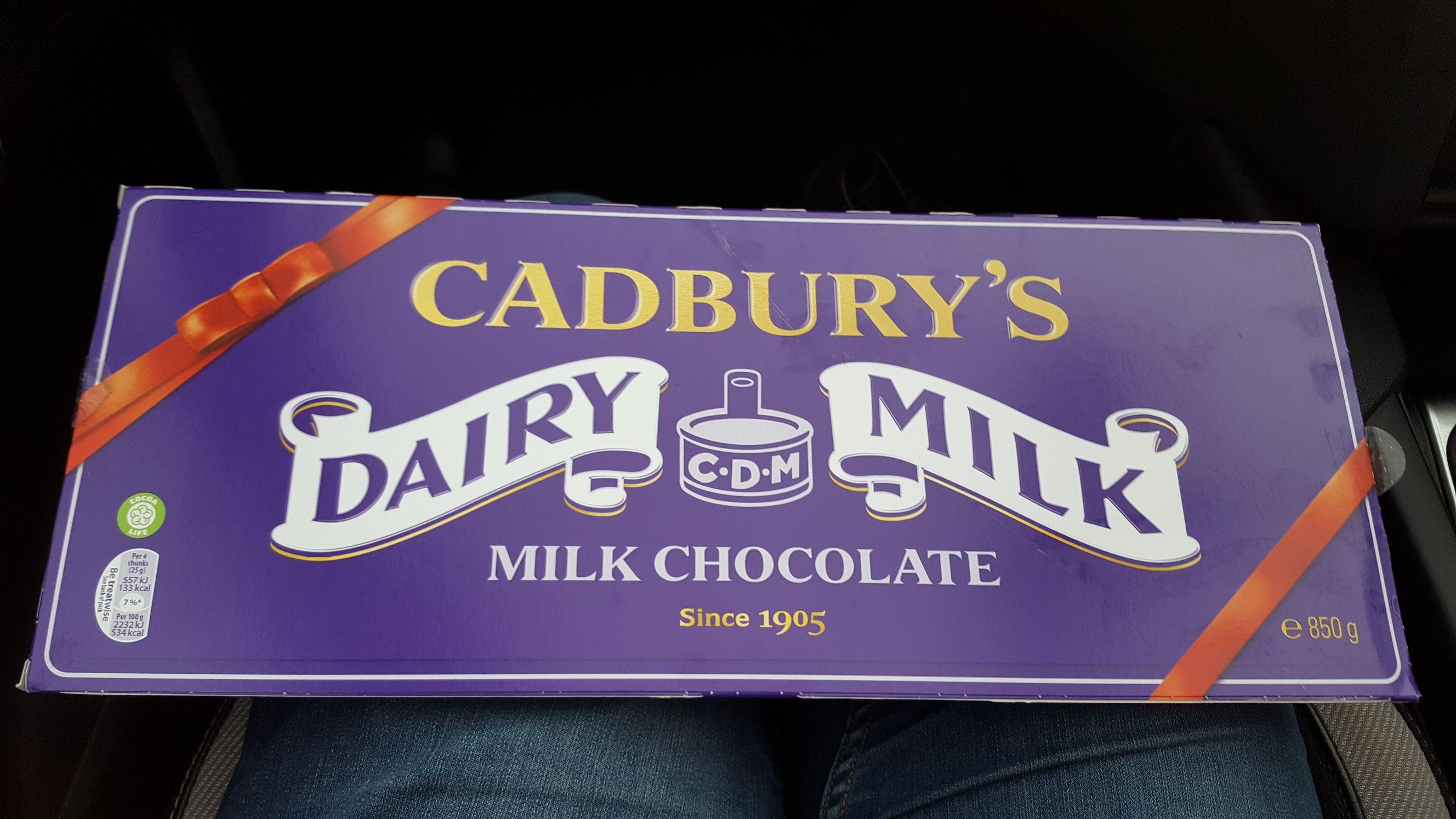 Cadbury Dairy Milk 850g instore asda £2.50