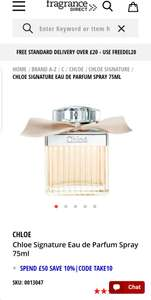 Chloe signature EDP 75 ml. £62.09 with code. £62.09 @  Fragrance Direct