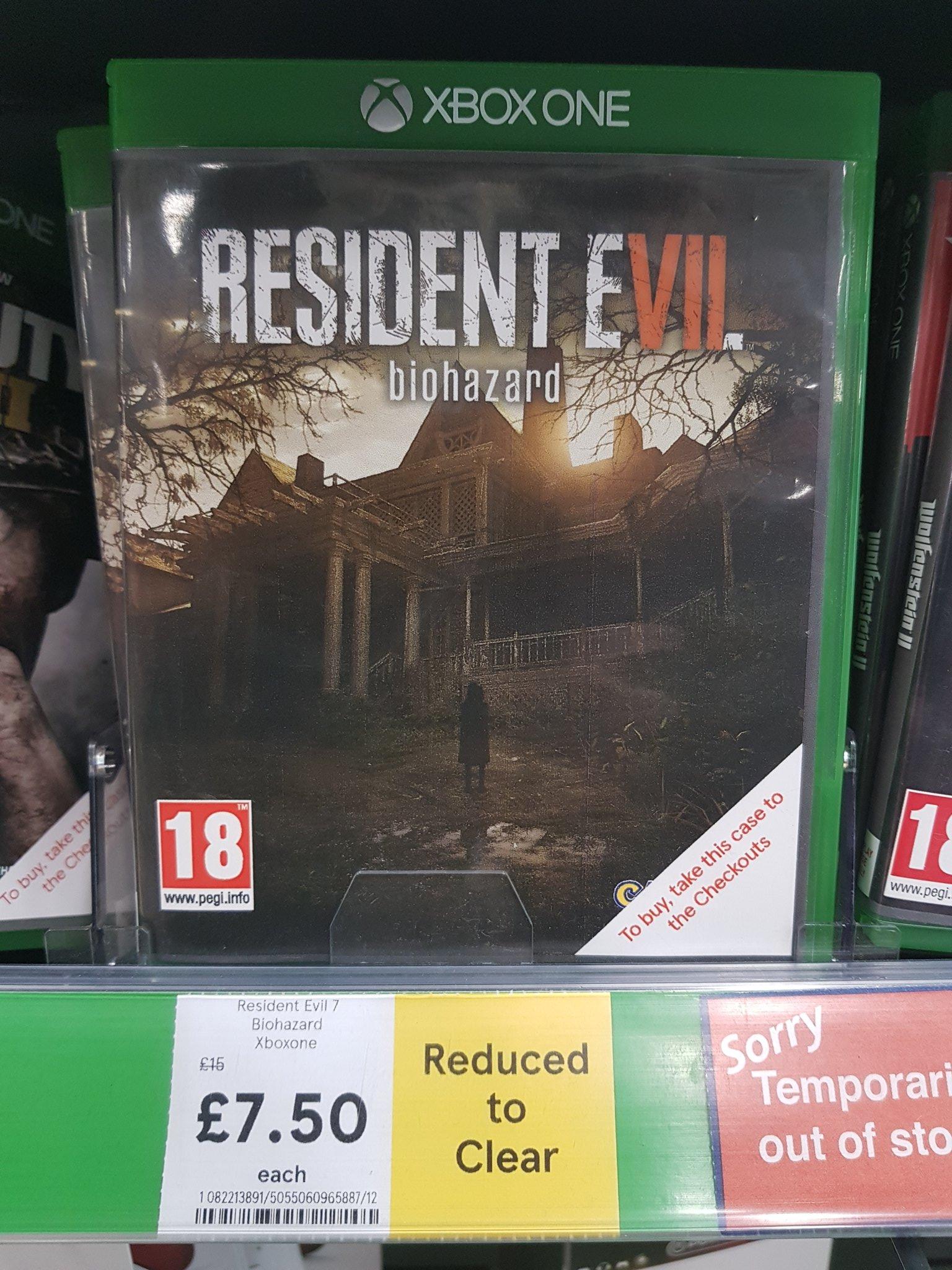 [Xbox One/PS4] Resident Evil 7 - £7.50 - Tesco (Instore)