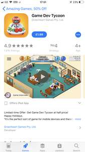 Game Development Tycoon (ios only) - £1.99 @ iTunes
