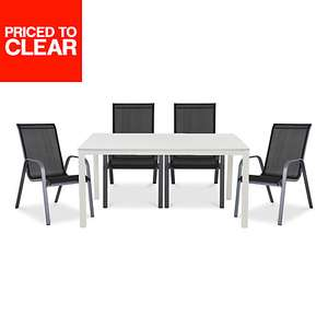 Janeiro Metal 4 seater Dining set B&Q Home delivery only was £109 now £65 free del