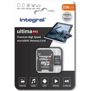 Integral 256GB UltimaPRO V30 Premium Micro SD Card (SDXC) UHS-I U3 + Adapter - 100MB/s - £27.99 @ MyMemory