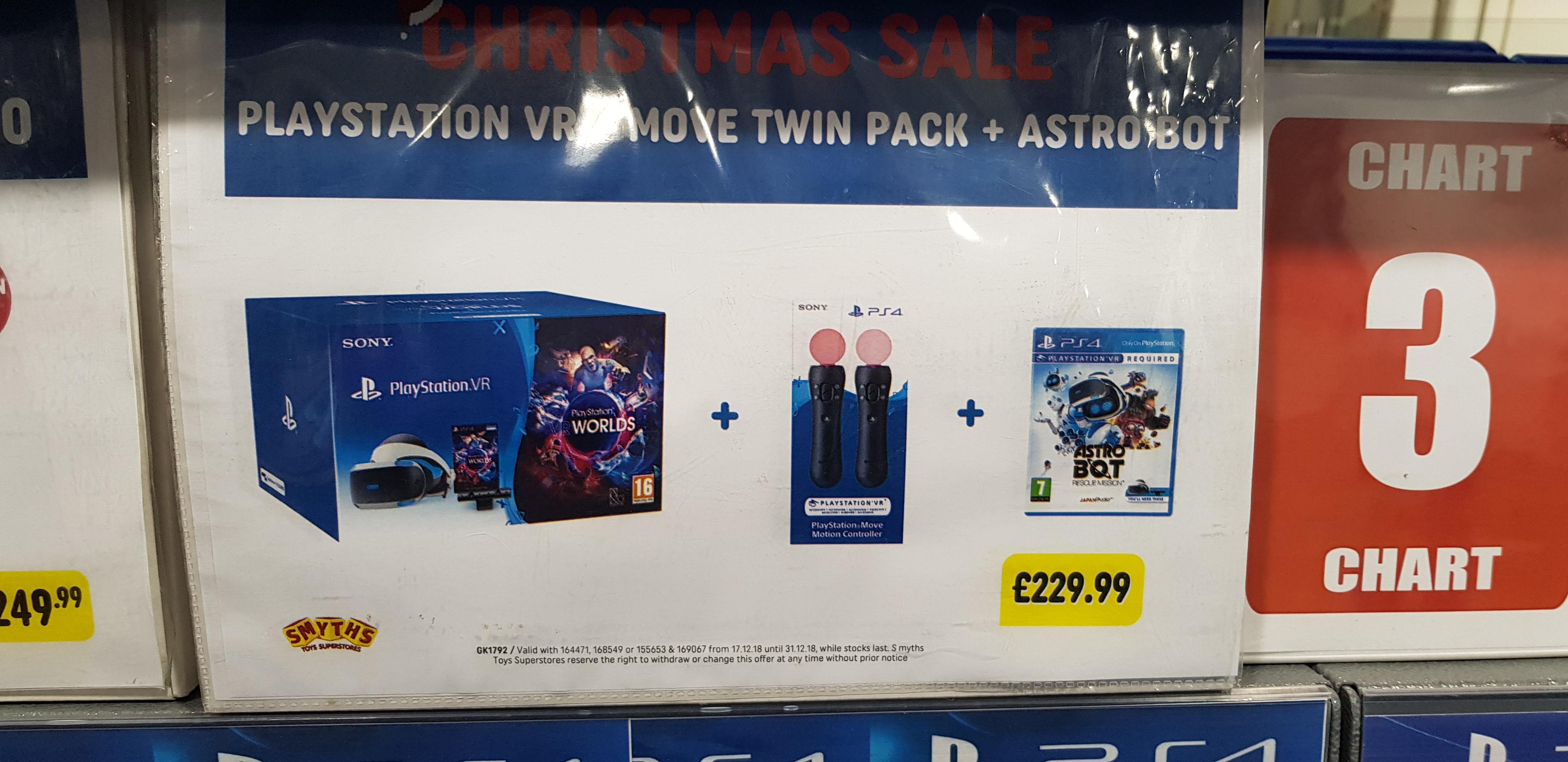 Playstation VR worlds starter pack + move controller twin pack + Astrobot - £229.99 @ Smyths (Glasgow)