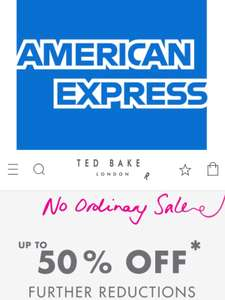 AMEX 15% cashback on £75+ spend at Ted Baker