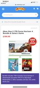 Xbox One S 1Tb Bundle with free FIFA 19 or Red Dead Redemption 2 - £199.99 @ Smyths