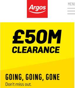Post Christmas Argos Clearance