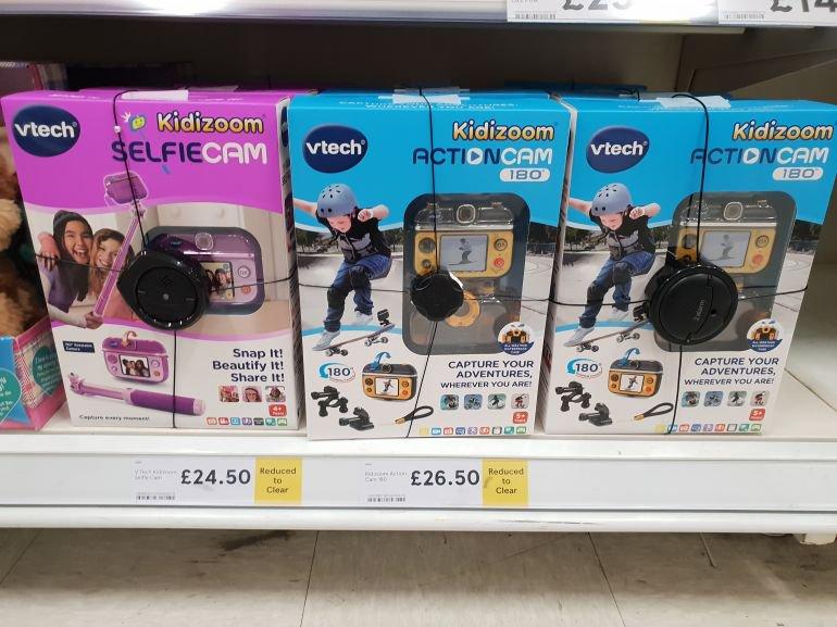 Kidizoom selfie Cam £24.50 (pink) and Action Cam (blue) £26.50 - Tesco Bradford