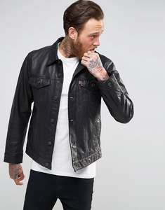 Levis leather trucker jacket on sale for £144 instore @ Levi's Covent Garden