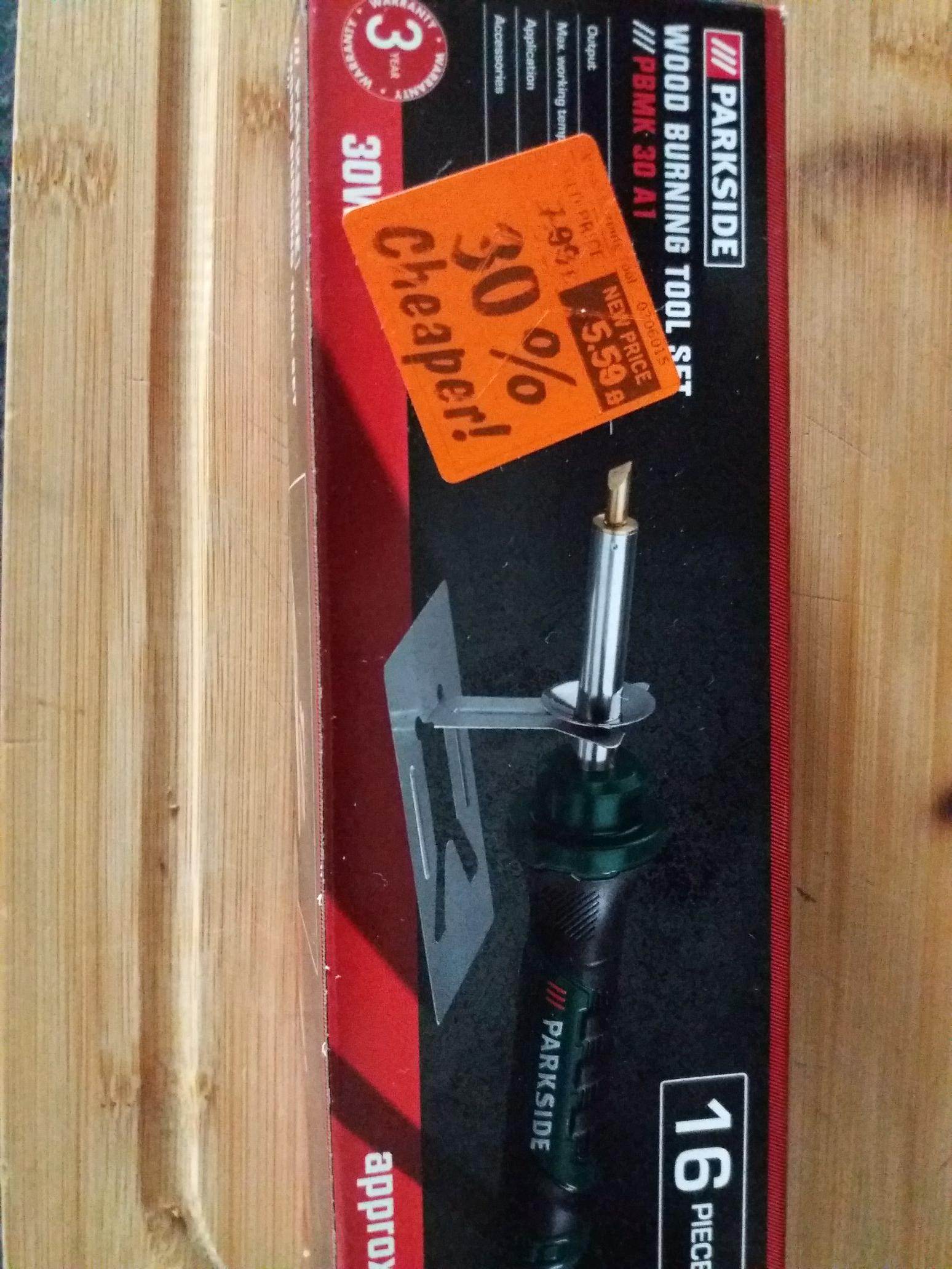 Parkside wood burning tool set £5.59 At lidl