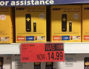 B&M  NowTV Stick with 3 Months Entertainment & One Day Sky Sports Pass - £14.99