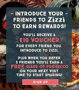 """""""REFER"""" A friend to zizzi and get £10 gift voucher off £25 spend."""