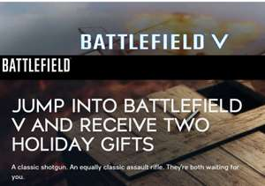 JUMP INTO BATTLEFIELD V AND RECEIVE TWO HOLIDAY GIFTS @ EA