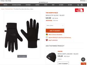 The North Face Men's/Women's E-tip Gloves £24.70 @ Simply Hike