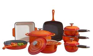 Cooks Professional Cast Iron 8 piece pots and pans set, £117.89 with code @ Groupon