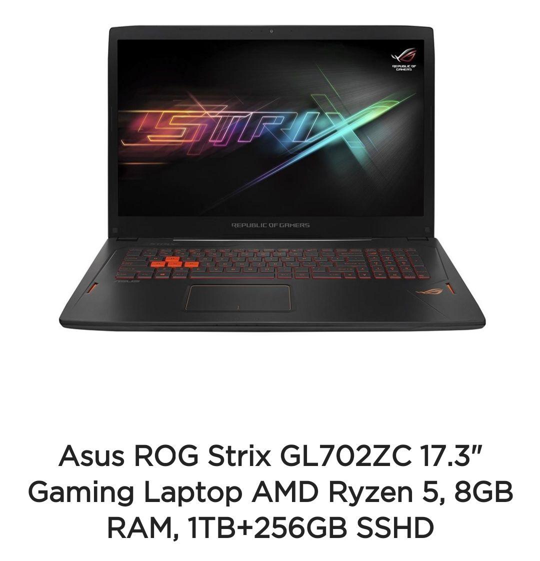 Asus ROG Strix GL702ZC Gaming laptop £899.97 Asus Shop