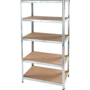 5 Tier Boltless Shelving 180x90x40cm - £17.99 in store or add £5.99 for del @ JTF