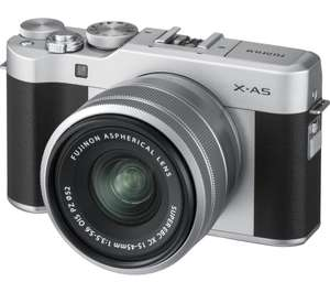 Fujifilm X-A5 (Silver) with Silver XC 15-45 lens £349 at Currys and Amazon