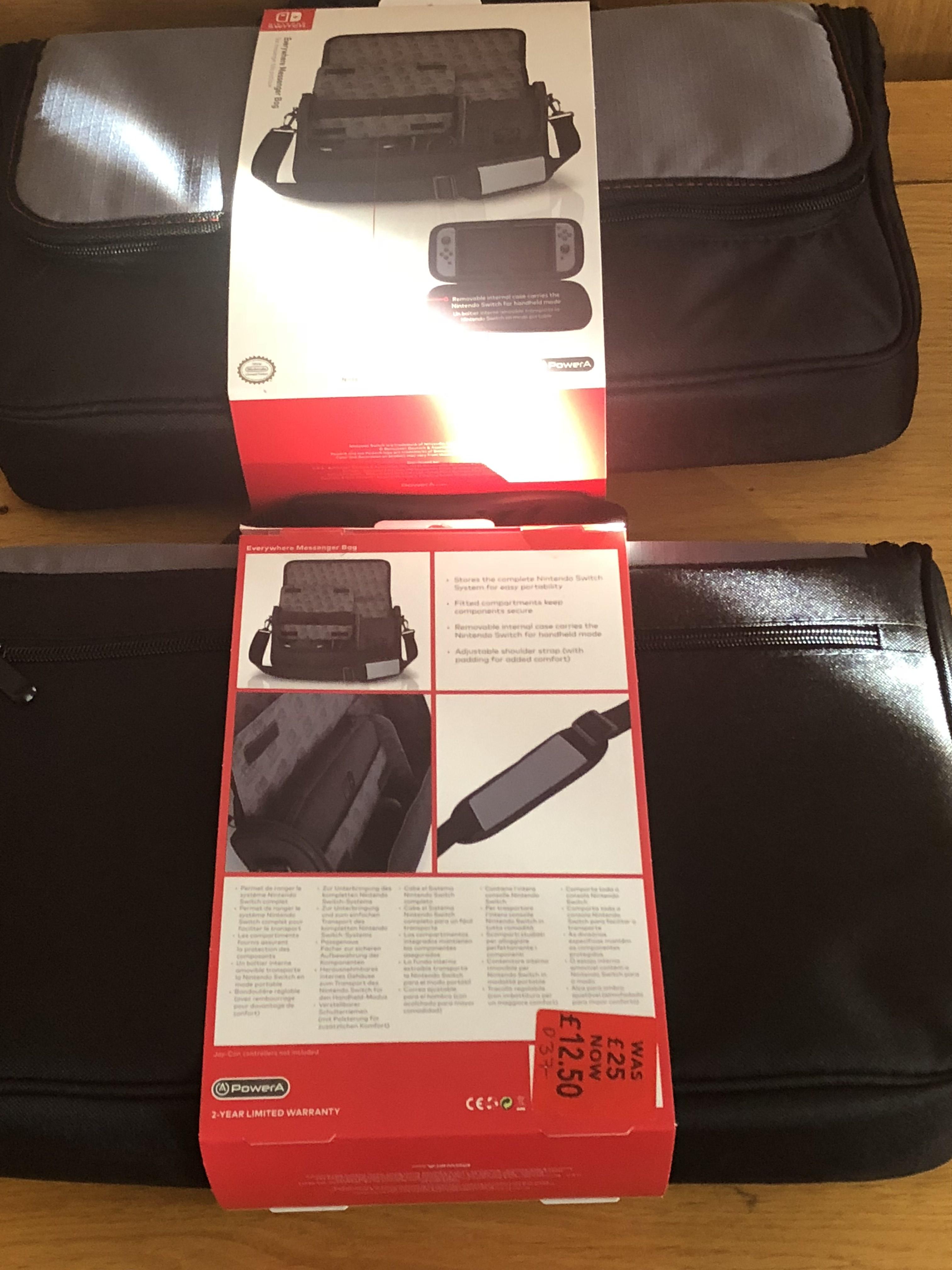 Nintendo switch official everywhere messenger bag - £12.50 instore @ ASDA