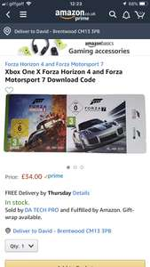 Forza horizon 4 + forza 7 download £34 Sold by DA TECH PRO and Fulfilled by Amazon