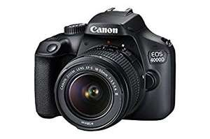 Canon EOS 4000D DSLR Camera and EF-S 18-55 mm f/3.5-5.6 III Lens - Black - £274 @ Amazon
