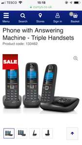3 Cordless Phones with Answer Machine £39.99 @ Currys