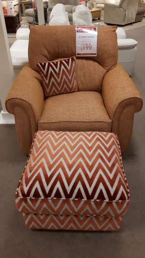 Comforter Chair and Footstool now £199 was £1,408 @ Furniture Village in-store