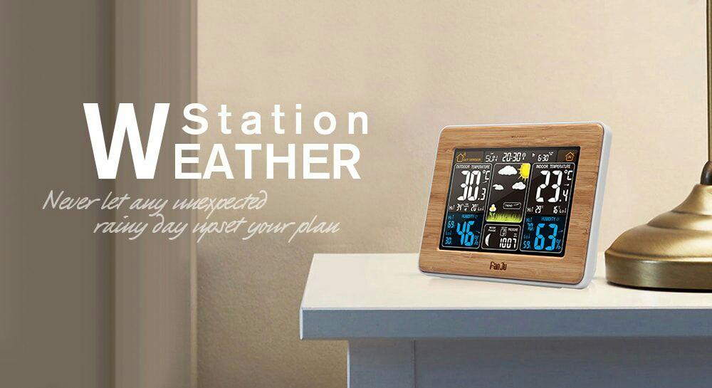 FanJu FJ3365 Weather Station Color Forecast £19.27 @ Gearbest
