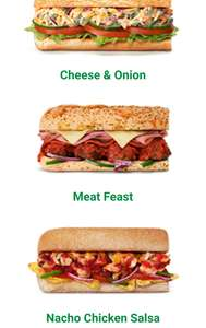 New subway savers options - e.g meat feast £2.59