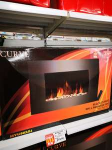 Hyundai Curve wall mounted electric fire with remote £59.99 @ poundstretcher