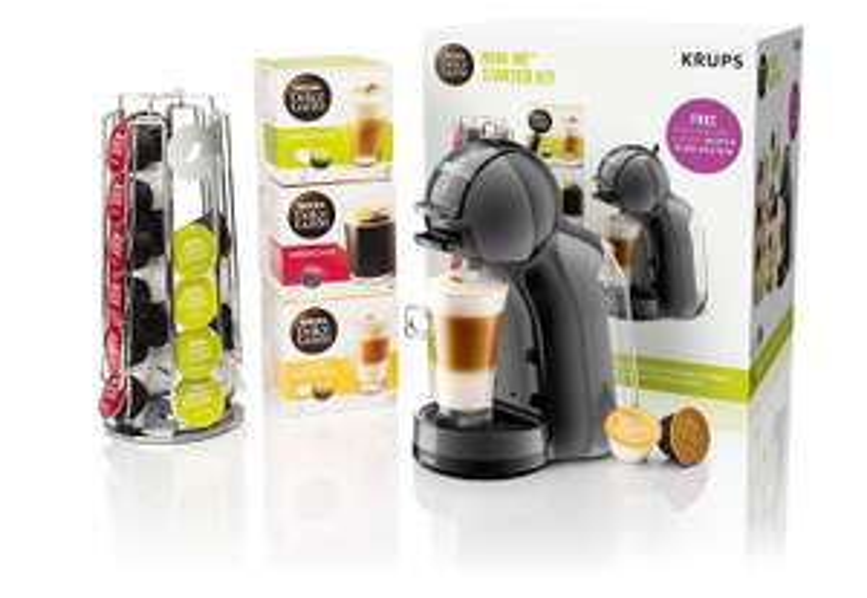 Nescafé Dolce Gusto Mini Me Coffee Machine Starter Kit, 1500 W, Black and Grey £49.99 @ Amazon