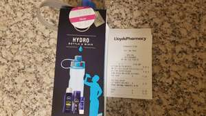 Lloyd's Pharmacy. Nivea water bottle, shower gel, deodorant and lip balm - £2.25