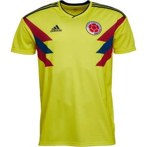Colombia Home Football Shirt - Mens, Womens and Juniors - From (£14.98 Delivered) @ MandM direct
