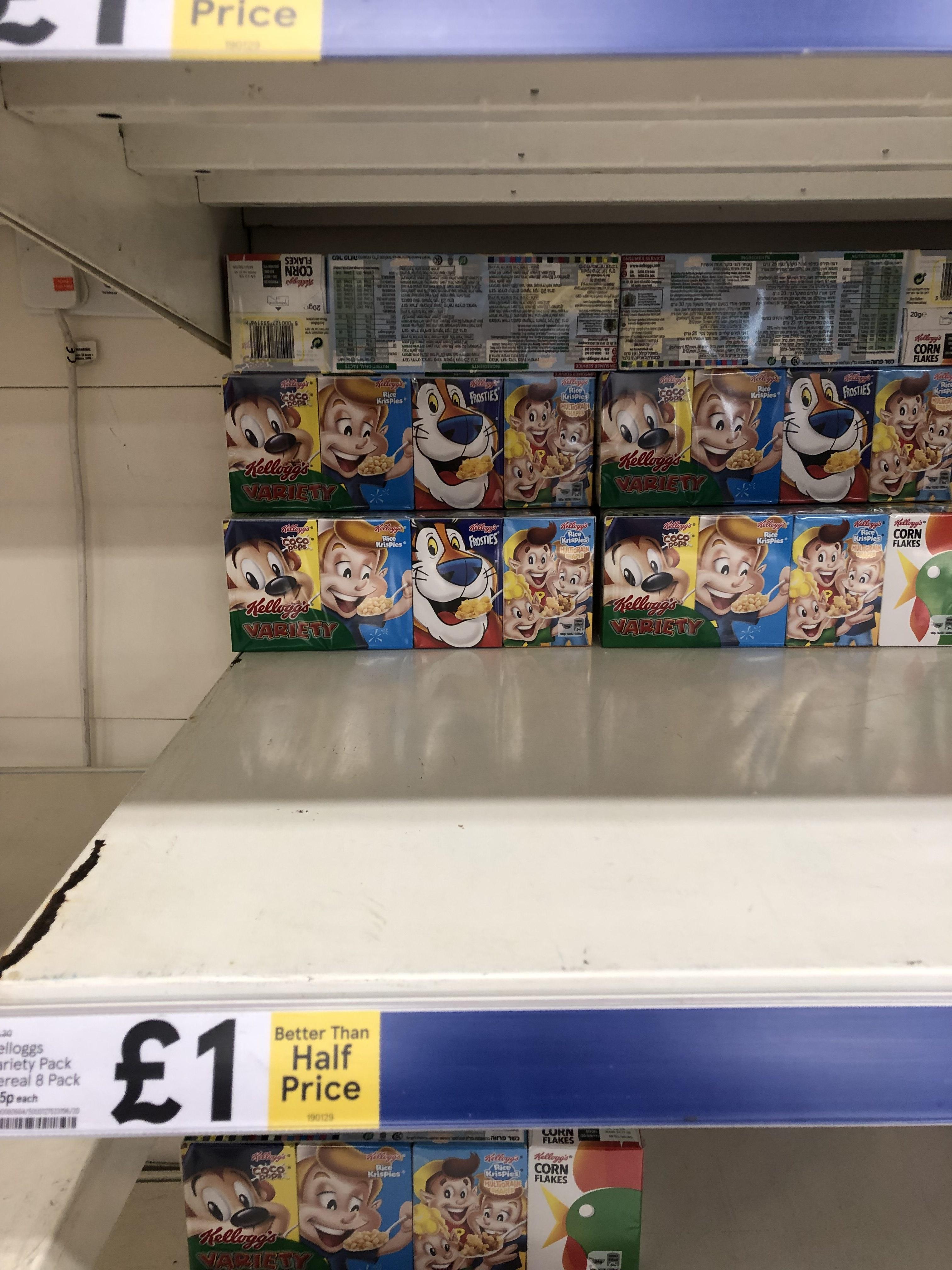 Kellogg's Variety Pack of 8 @ Tesco £1