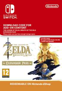 Zelda: Breath of the Wild Expansion Pass Download - £15.85 - Nintendo Switch/Wii U - Shopto.net/Amazon uk