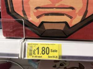 Marvel Avengers Room Curtains was originally £15 then £7 now £1.80 instore at Asda (Toryglen)