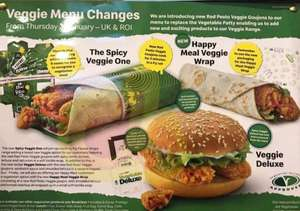 New Veggie Mcdonalds menu options (including happy meal!) - From 03/01/19