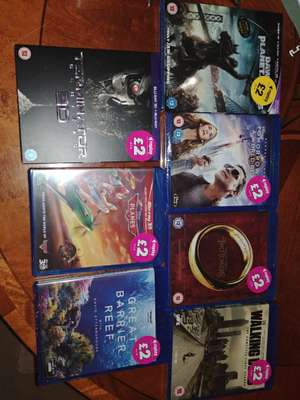 Quality Blu-ray's including 3D £2 in store at Poundland