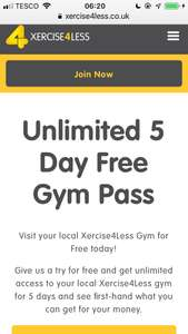 Free 5 Day Gym Pass Unlimited Access at xercise4less
