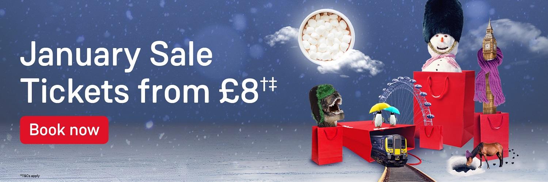 South Western Railway January Advance Ticket Sale