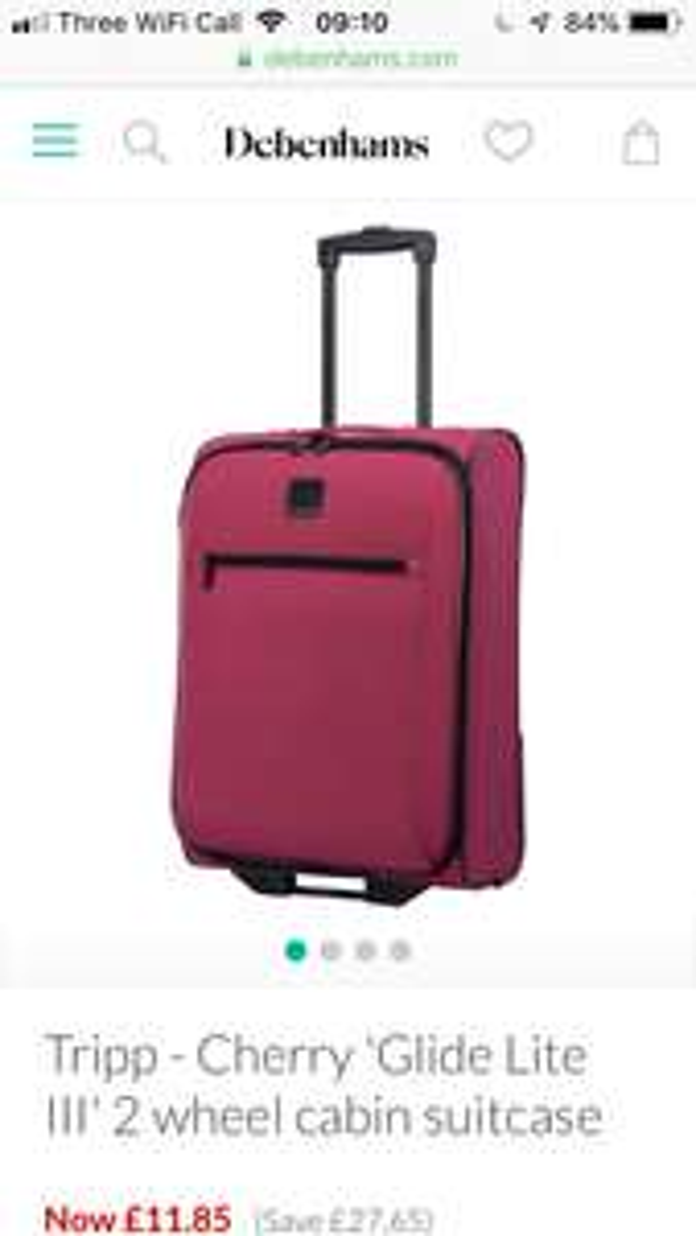 Tripp 2 wheel cabin case - £11.85 @ Debenhams  (+ £2 c&c / £3.49 del)