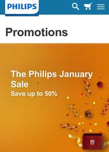 Philips January sale up to 50% off