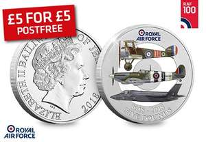 The Official RAF Centenary Five Pound Coin -  For Just £5 Plus Free Delivery