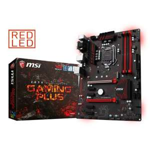 MSI Intel Z270 GAMING PLUS  Kaby Lake full ATX Motherboard compatible with Intel 6th and 7th Generation processors £54.98 @ Ebuyer